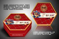 经典红色中国风月饼包装盒设计