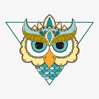 原创设计稿 卡通图片/插画 动物插画 手绘猫头鹰装饰画矢量图  请您