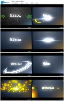 耀斑闪光标志LOGO转场片头AE模板