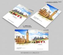 中国风水墨英国旅游画册封面