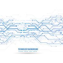 抽象科技点线宣传册封面矢量图