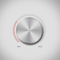 高档icon旋钮金属图标 PSD
