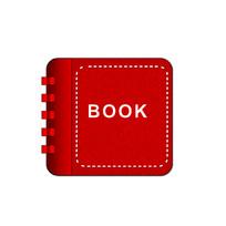 红色书手机图标 PSD