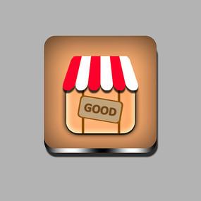 商店购物手机图标 PSD