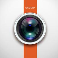 时尚绚丽相机镜头手机图标 PSD