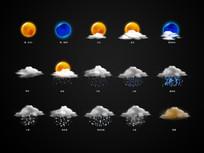 天气手机图标 PSD