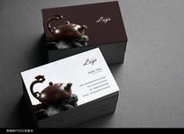 中国风茶名片设计模板