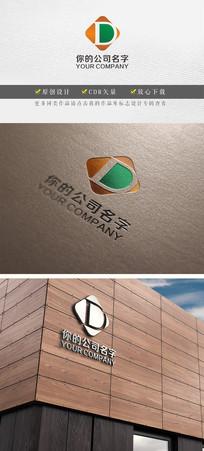D字母变形企业logo