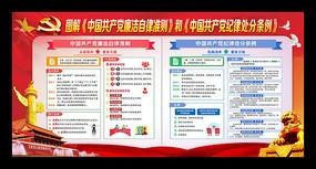 中国共产党廉洁自律准则和处分条例展板