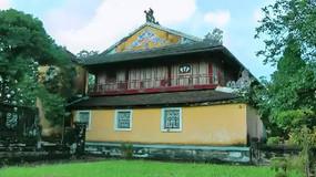 古城建筑遗址人文旅游风光特写视频