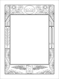 镜子框雕刻图案