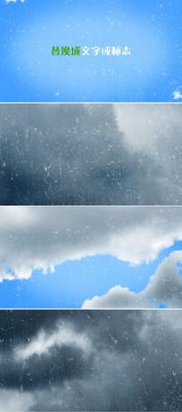雷雨天乌云闪电企业logo标志显示ae模板 aep
