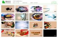 清新传统文化餐饮宣传片ae模板