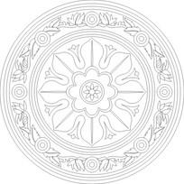 圆圈花纹雕刻图案 CDR