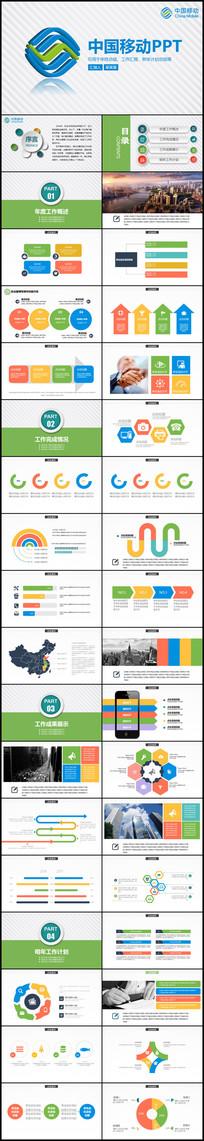中国移动公司年工作总结计划PPT