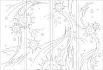 抽象太阳雕刻图案