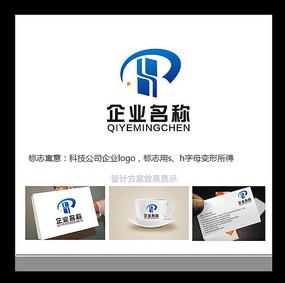 大气蓝色科技公司logo
