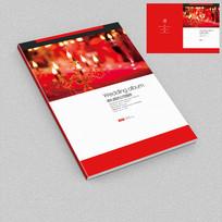 红色喜庆婚礼活动相册封面设计