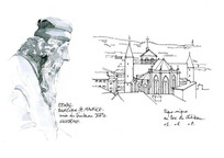 建筑钢笔手稿