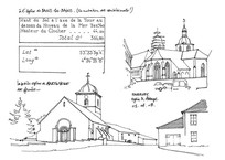 教堂建筑手稿