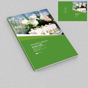绿色小清新婚礼活动策划公司宣传册封面图片