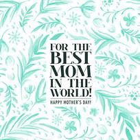 母亲节礼物包装盒花纹背景图案
