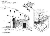 欧式线稿建筑