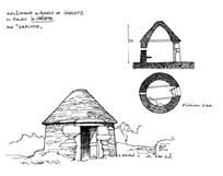 手绘茅草屋