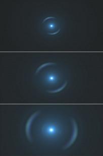 水滴圆形波纹蓝色光圈旋转放大视频
