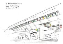 现代建筑手绘图