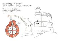圆形欧式城堡