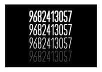 阿拉伯数字字体设计
