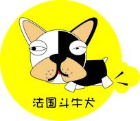 法国斗牛犬插画