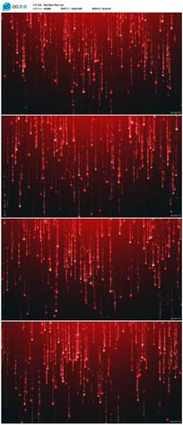 红色闪烁星星雨背景视频