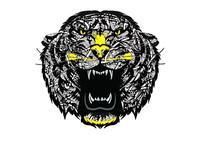 欧美潮牌欧货男装老虎头印花图案