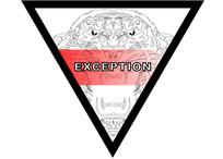 三角形原创老虎头线稿t恤印花图案