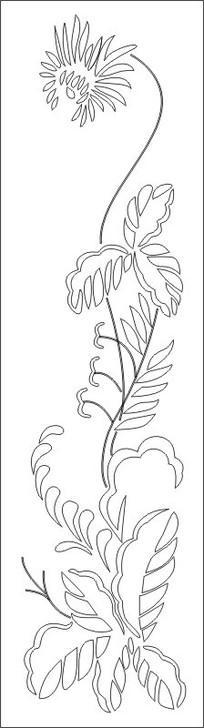 抽象菊花图雕刻图案