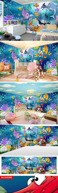 立体空间装修儿童房背景墙模板图片