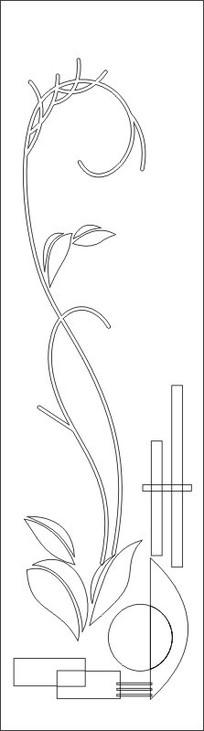 圆形叶子雕刻图案