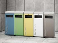 彩色环保垃圾桶 JPG