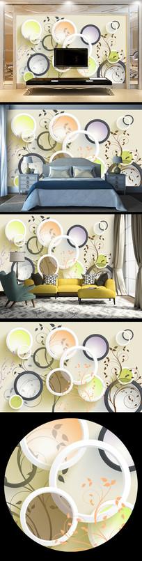 大气时尚立体花纹背景墙