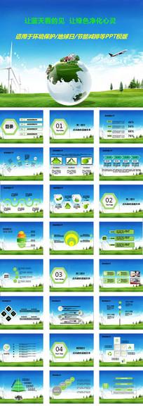 地球日环境保护PPT模版