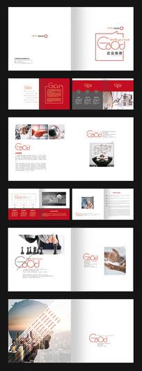 红色精致大气企业画册
