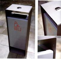 简单金属垃圾桶 JPG