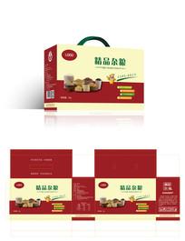 精品五谷杂粮包装礼盒平面图
