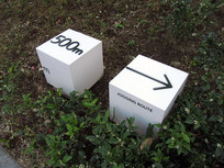 立方体绿叶指示牌 JPG