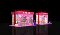 礼品盒糖果小屋模型