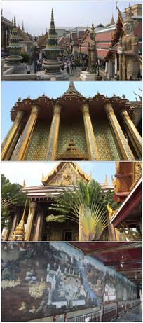 曼谷历史建筑遗址旅游实拍