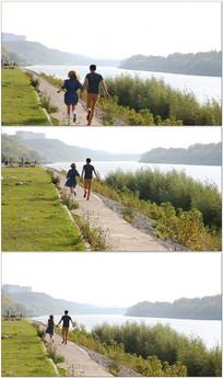 男女朋友牵手奔跑视频