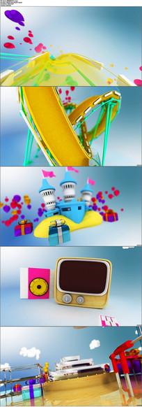清新靓丽游乐场主题视频模板